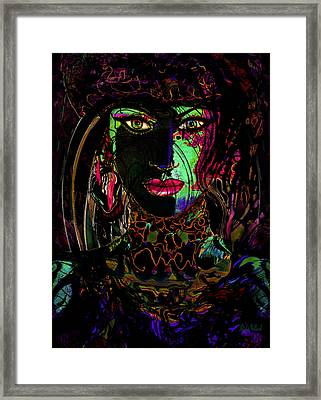 Emerald Goddess Framed Print by Natalie Holland