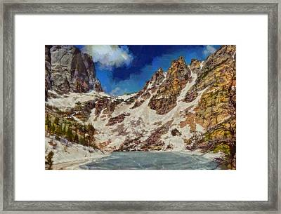 Emerald Lake Rocky Mountain National Park Framed Print by Dan Sproul