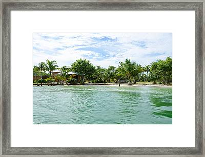 Emerald Waters Framed Print by Margaret Pitcher