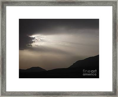 Emergence In Andalusia Framed Print by R McLellan
