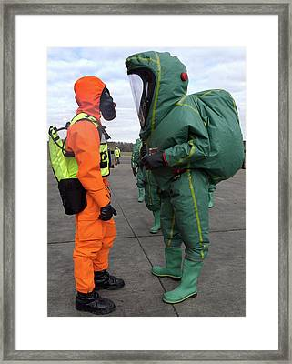 Emergency Response Protection Suits Framed Print by Public Health England