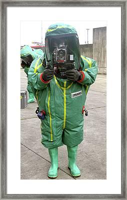 Emergency Response Training Photography Framed Print by Public Health England