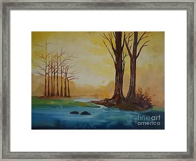 Emerging Light Of Hopes Framed Print by Jnana Finearts