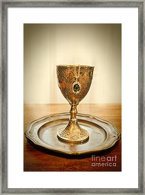 Emerlad Necklace In Chalice Framed Print by Jill Battaglia