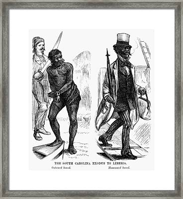 Emigration To Liberia, 1878 Framed Print by Granger