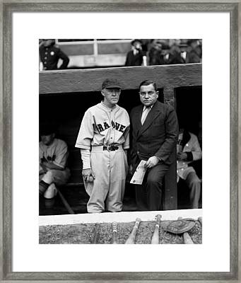 Emil E. Fuchs With Johnny Evers Framed Print by Retro Images Archive