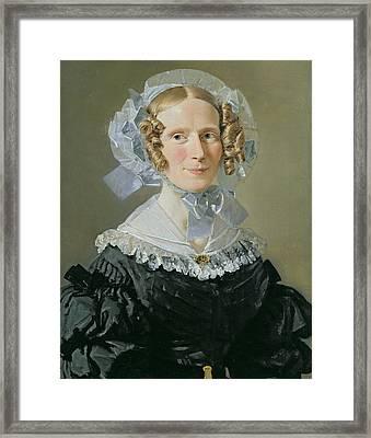 Emilie Kessel 1800-53 1839 Oil On Canvas Framed Print by Christian-Albrecht Jensen