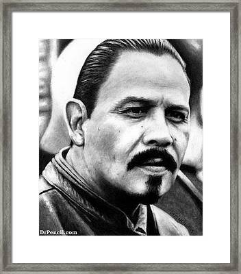 Emilio Rivera As Marcus Alvarez Framed Print by Rick Fortson