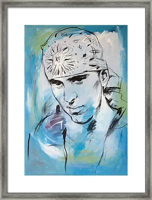 Eminem Art Painting Poster Framed Print by Kim Wang