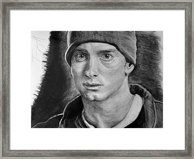 Eminem Drawing 8 Mile Framed Print by Tony Orcutt