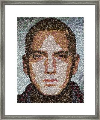 Eminem M And M Candy Mosaic Framed Print by Paul Van Scott