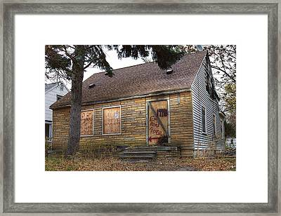 Eminem's Childhood Home Taken On November 11 2013 Framed Print by Nicholas  Grunas