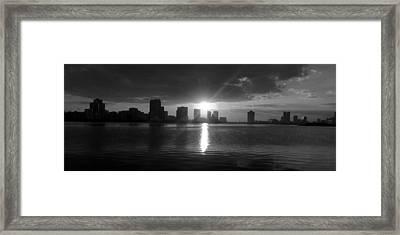 Emirates Downtown Framed Print by Farah Faizal