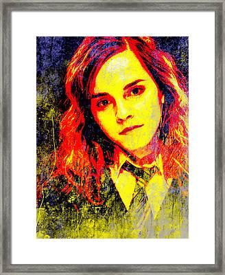 Emma Watson As Hermione Granger Framed Print by John Novis