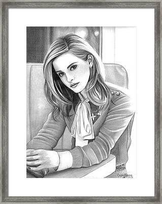 Emma Watson Framed Print by Crystal Rosene