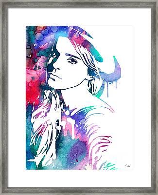 Emma Watson Framed Print by Luke and Slavi