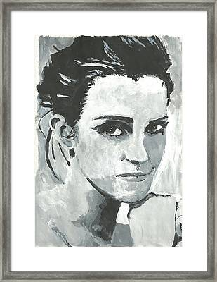 Emma Watson Framed Print by Terence Leano