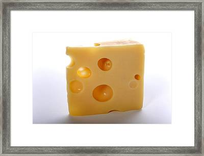 Emmental Cheese Framed Print by Science Photo Library