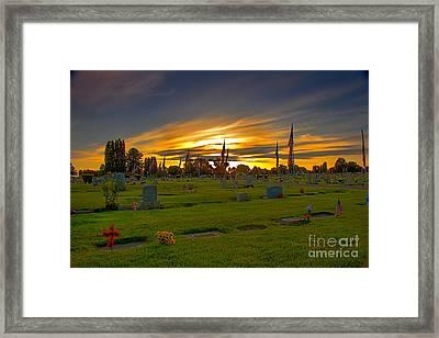 Emmett Cemetery Framed Print by Robert Bales