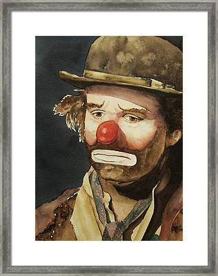 Emmett Kelly Framed Print by Linda Halom