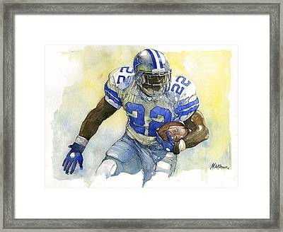 Emmitt Smith Framed Print by Michael  Pattison
