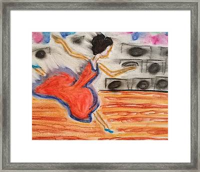 Emotional Dance Framed Print by Amanda Schroeder