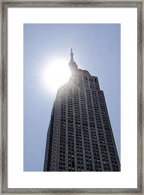 Empire State At Hign Noon Framed Print by Bill Cannon