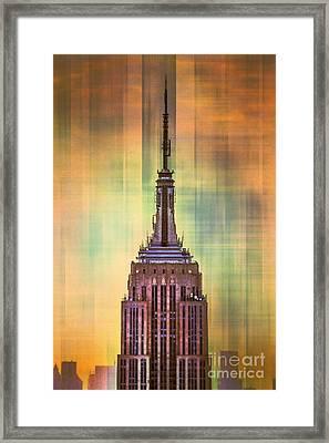 Empire State Building 3 Framed Print by Az Jackson