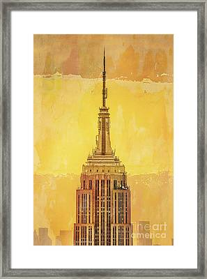 Empire State Building 4 Framed Print by Az Jackson