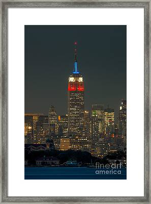 Empire State Building 911 Tribute Framed Print by Clarence Holmes