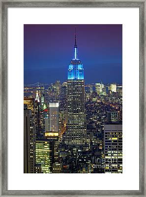 Empire State Building Framed Print by Inge Johnsson