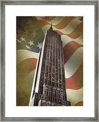 Empire State Building Framed Print by Mark Rogan