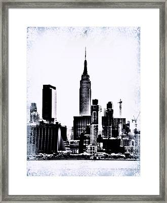 Empire State - Nyc Framed Print by Bill Cannon