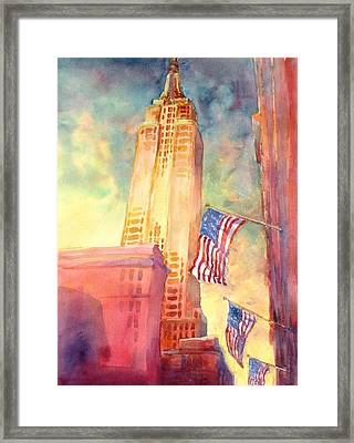 Empire State Framed Print by Virgil Carter