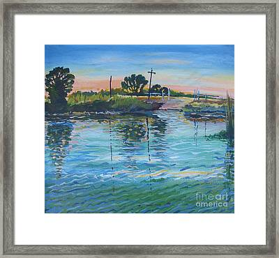 Empire Tract Ferry Framed Print by Vanessa Hadady BFA MA