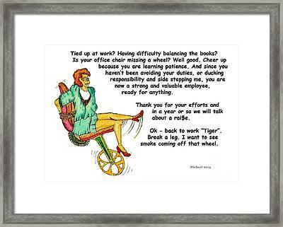 Employee Thank You Card Framed Print by Michael Shone SR