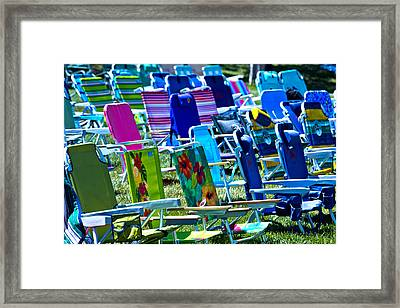Empty Chairs Framed Print by Garry Gay