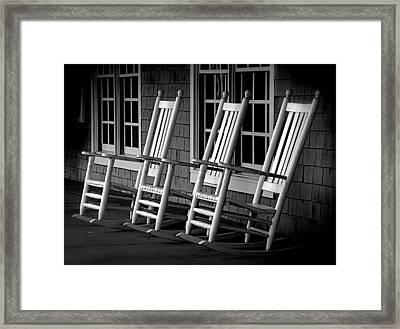 .empty Chairs. Framed Print by Lynn E Harvey