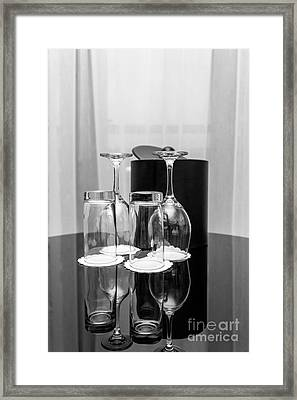 Empty Glasses Framed Print by Svetlana Sewell