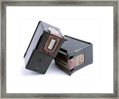 Empty Ink Cartridges Framed Print by Sinisa Botas