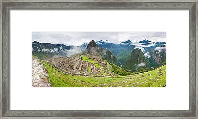 Empty Machu Picchu Complex Early Framed Print by Panoramic Images