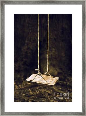 Empty Swing Framed Print by Carlos Caetano
