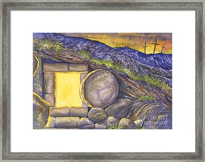 Empty Tomb Or Life And Death Framed Print by Mark Jennings