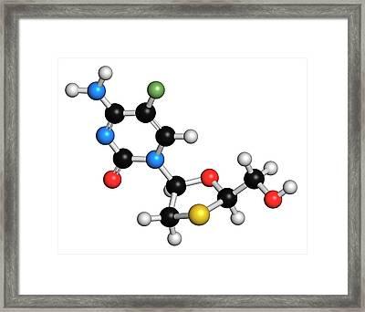 Emtricitabine Hiv Drug Molecule Framed Print by Molekuul