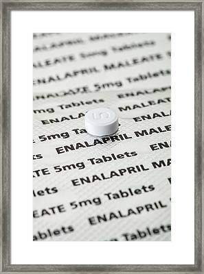 Enalapril Framed Print by Geoff Kidd