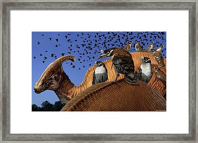Enantiornithes Framed Print by Jaime Chirinos