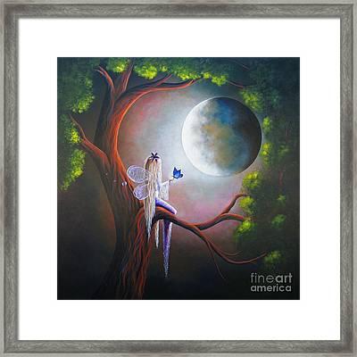 Original Fairy Artwork By Shawna Erback Framed Print by Shawna Erback