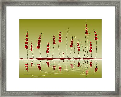 Enchanted Berries Framed Print by Anastasiya Malakhova