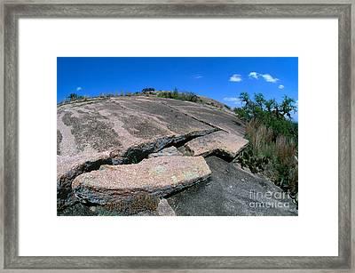 Enchanted Rock Exfoliating Framed Print by Gregory G. Dimijian, M.D.