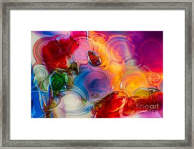Enchanting Flames Framed Print by Omaste Witkowski